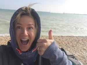 Hayley Barnard Completes Channel Solo Qualifying Swim