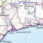 map extract for swim trek